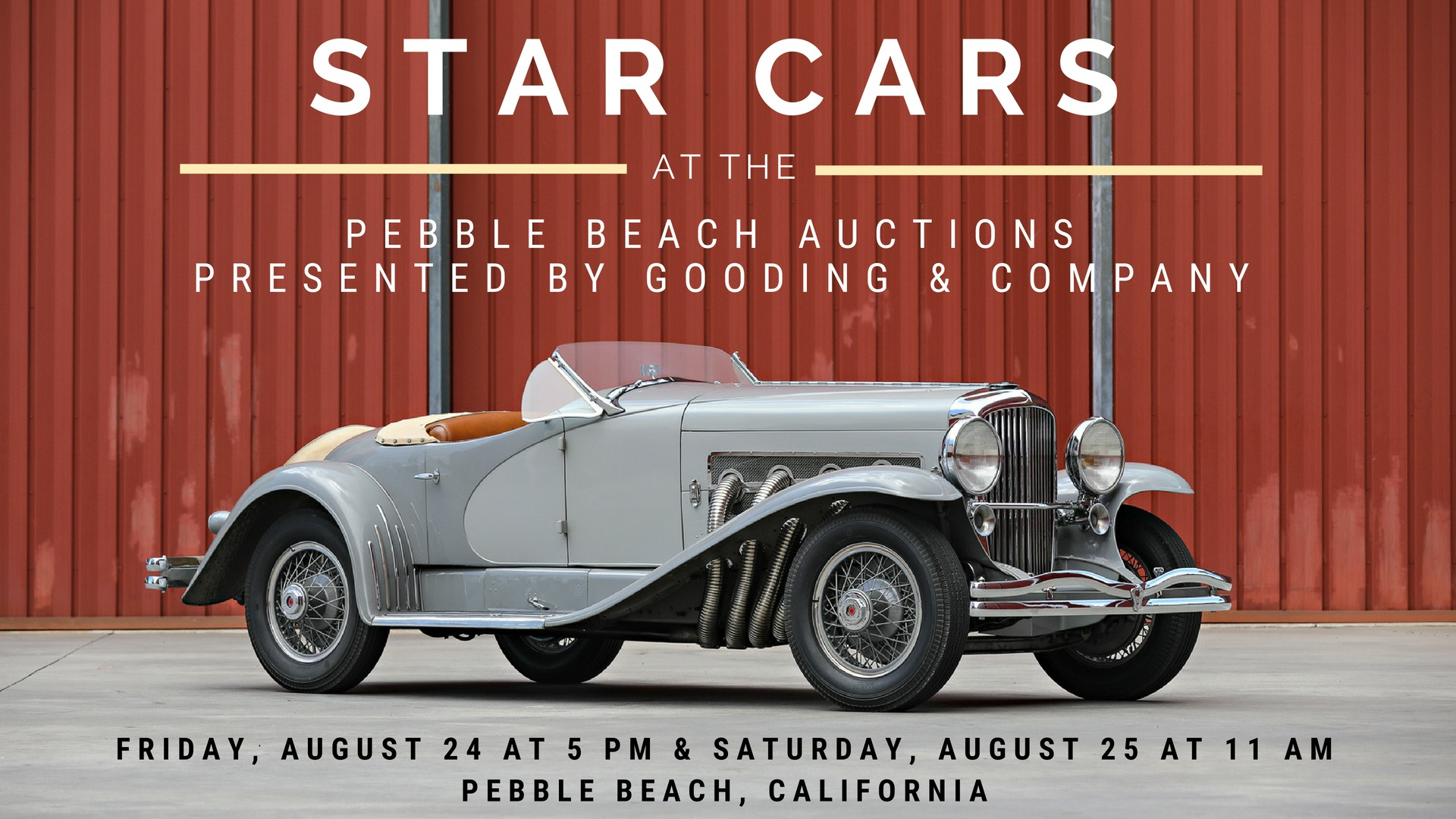 pebble beach star cars