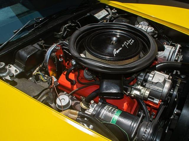 1975 L48 Yellow Corvette Convertible Automatic Engine 1