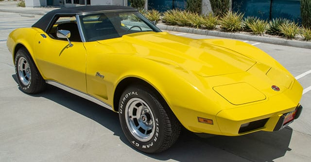 1975 L48 Yellow Corvette Convertible Automatic Exterior 1