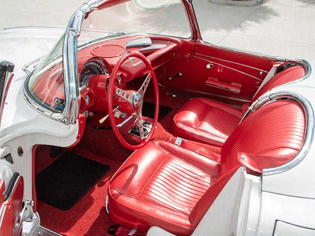 1962 white corvette 340hp interior