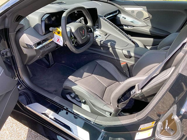 2020 C8 Corvette Black Black Interior