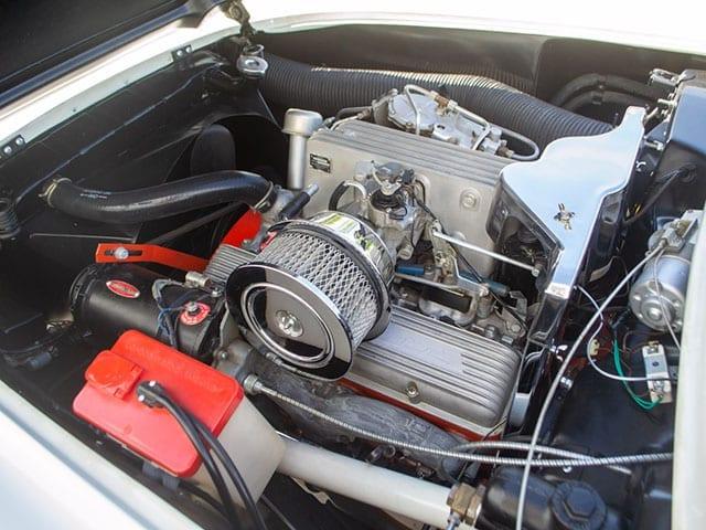 1957 White Corvette Fuel Injected Engine 1