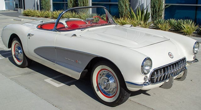 1957 White Corvette Fuel Injected Exterior 1