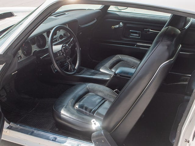 1973 White Pontiac Trans Am Sd 455 4 Speed Interior 1