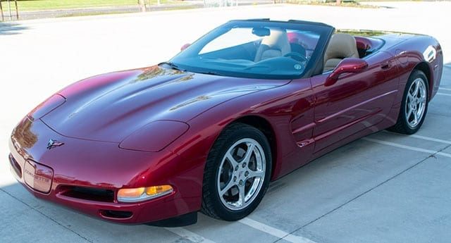 2002 magnetic red corvette coming 1